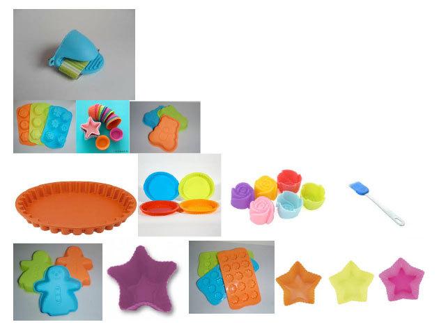 31 darabos szilikon sütőforma készlet – praktikus csomag