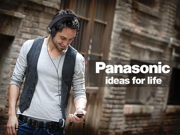 Panasonic fejhallgató mikrofonnal és távirányítóval fekete, illetve fehér színben!