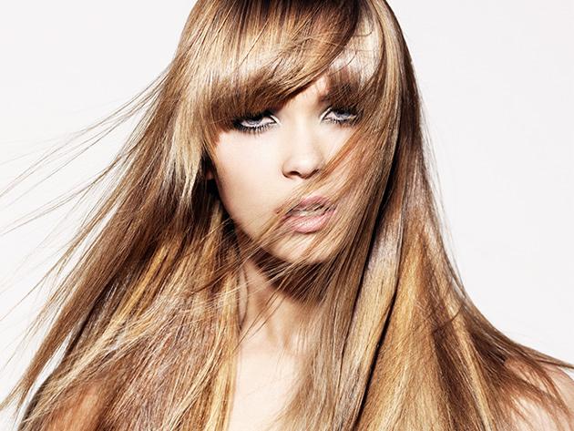 Melír, mosás, hajpakolás, szárítás