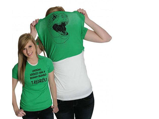 T-rex felhúzós póló