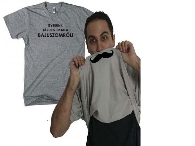 Bajuszos felhúzós póló