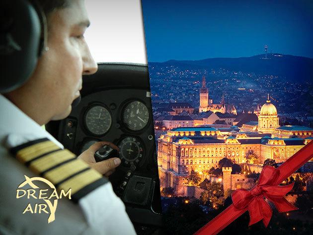 Ajándékozz karácsonykor repülőgép vezetést: 30 perc elméleti oktatás + 20 perc Budapest panorámarepülés a Dream Air-rel!