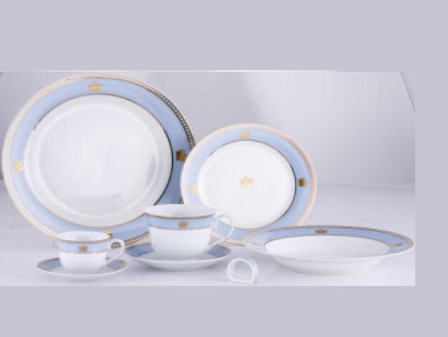 57 részes porcelán szett, Victoria, kék (DV-57012)
