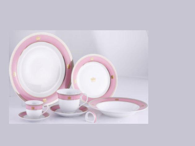 57 részes porcelán szett, Victoria, pink (DV-57011)