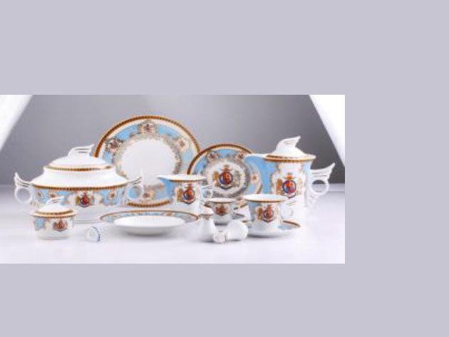 57 részes porcelán szett, Windsor, kék (DV-57007)