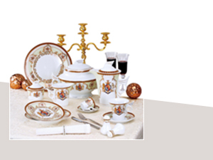 57 részes porcelán szett, Windsor, zöld (DV-57014)