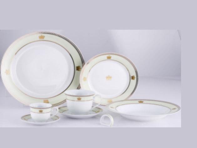 57 részes porcelán szett, Victoria, zöld (DV-57013)