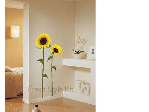 Napraforgók falmatrica (A magasabb napraforgó 110, az alacsonyabb 105 cm)