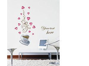 Kávés falmatrica (A csésze mérete 27x27 cm, A felragasztott kép kb: 120 cm magas)