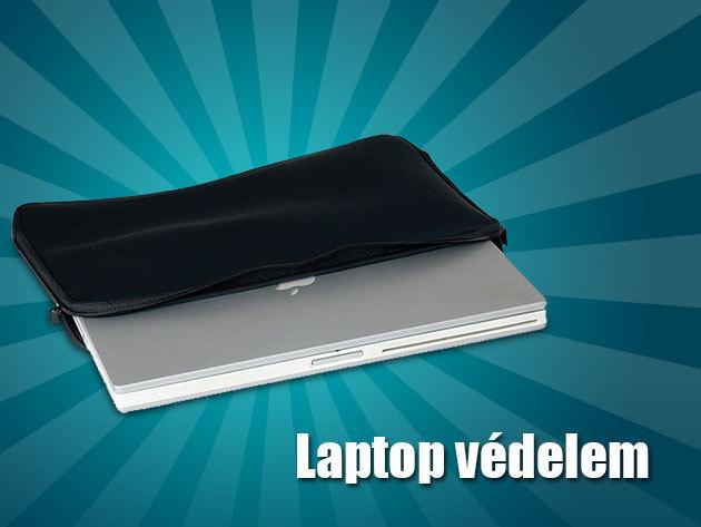 Puha, cipzáras laptop védőtok neoprén borítással!