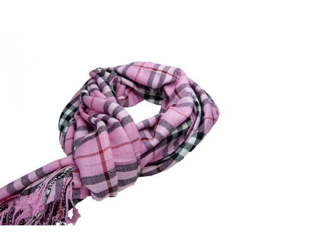 Burberry rózsaszín kockás sál