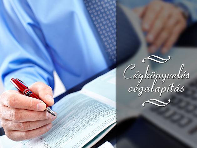 Cégalapítás/módosítás, könyvelés, bérszámfejtés és adótanácsadás!