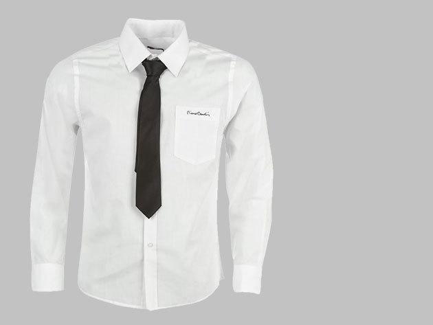 Pierre Cardin férfi ing, nyakkendővel - fehér