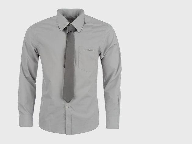 Pierre Cardin férfi ing, nyakkendővel - szürke