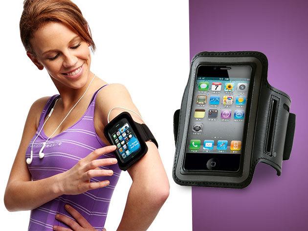 Karra erősíthető, tépőzáras, átlátszó iPhone 4/4S telefontok sportoláshoz