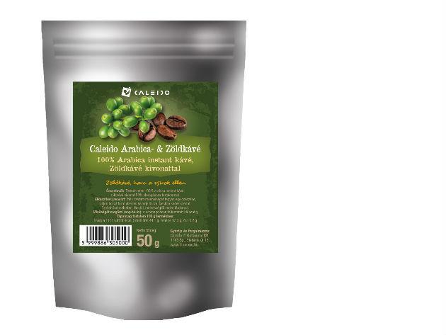 Caleido Arabica - Zöldkávé, instant (50 gramm)