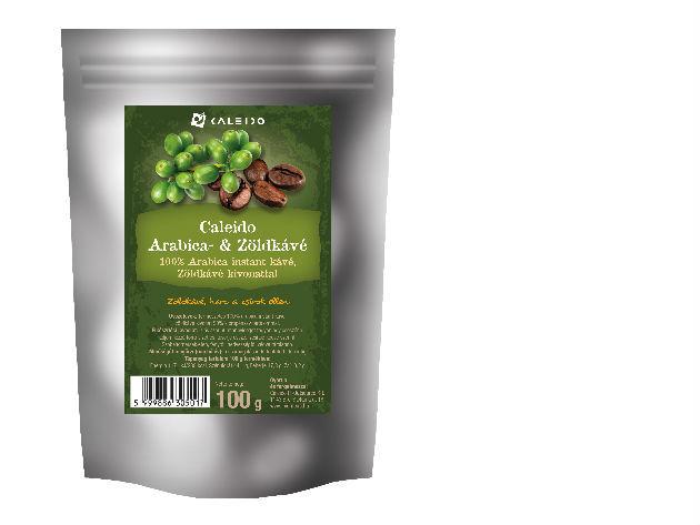 Caleido Arabica - Zöldkávé, instant (100 gramm)