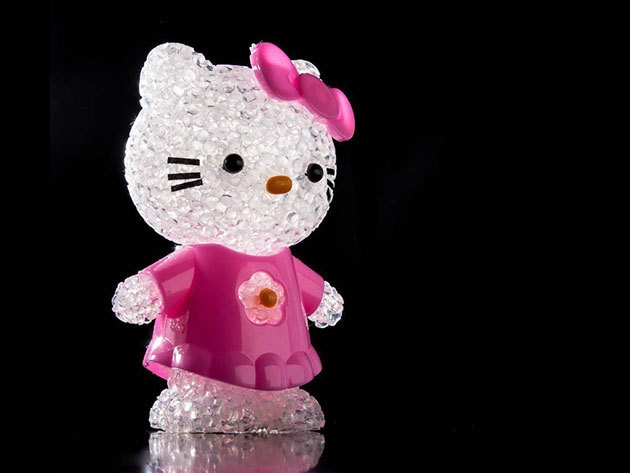 Hello Kitty éjszakai fény