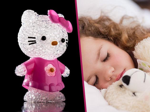 Hello Kitty éjszakai fény színváltós LED-del