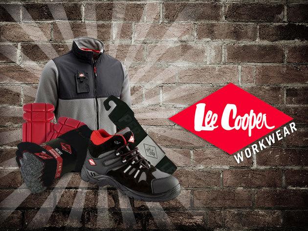 Lee Cooper munkaruházat: térdvédő, zokni, bakancs, thermo pulóver és öv