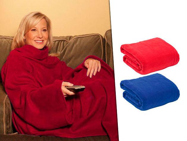 2 db poncsóként viselhető polár anyagú takaró tévézéshez