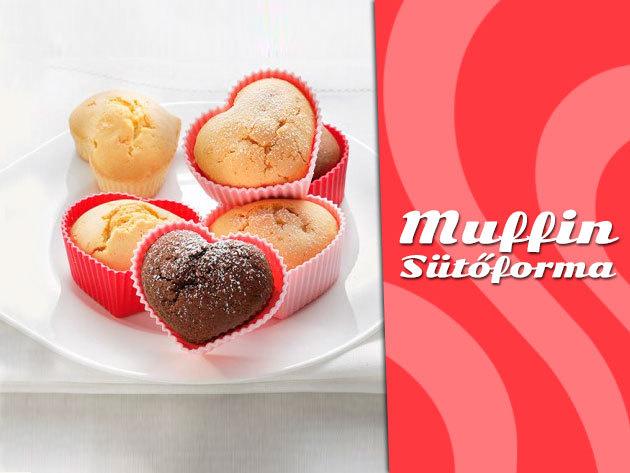 Lepd meg párodat Valentin-napon néhány finom szív alakú mini muffinnal!