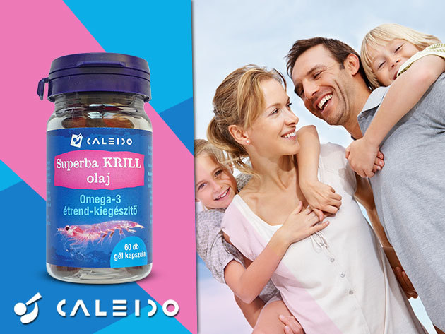 Superba Krill Olaj kapszula - a legtisztább, vízben oldódó krill olaj Omega-3 tartalommal