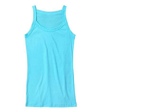Vékony pántos női trikó (azúr)