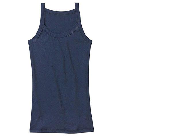 Vékony pántos női trikó (éjkék)