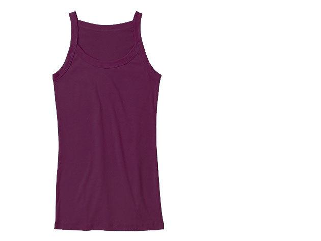 Vékony pántos női trikó (lila)