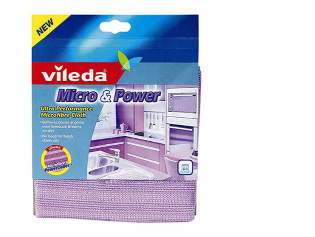 Mikroszálas Micro&Power törlőkendő (lila)