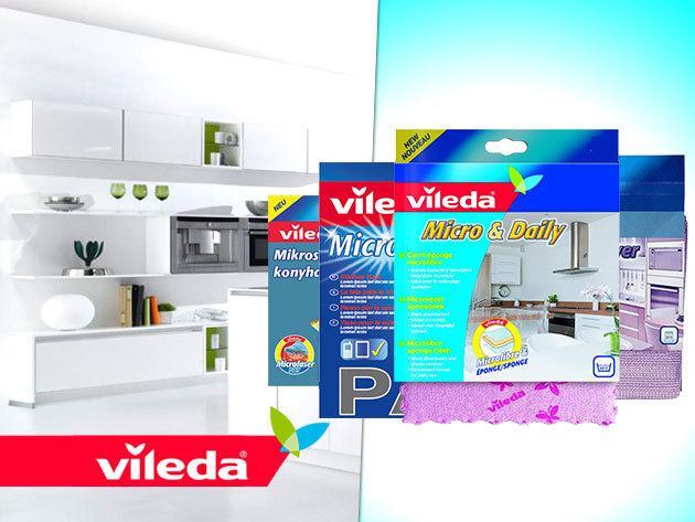 VILEDA mikroszálas konyharuhák, törlőkendők és szivacsok a professzionális tisztaságért