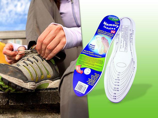 2 pár Memóriahabos talpbetét gerinc- és lábfájdalmak ellen