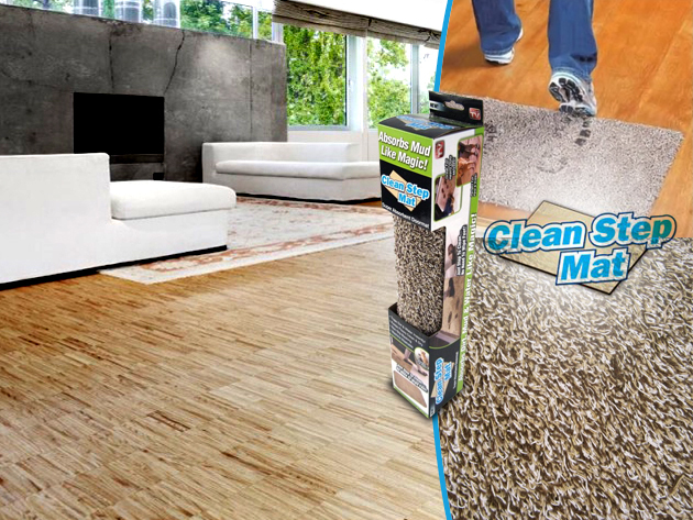 A Clean Step Mat mikroszálas lábtörlővel mindig makulátlan tisztaság lesz otthonodban