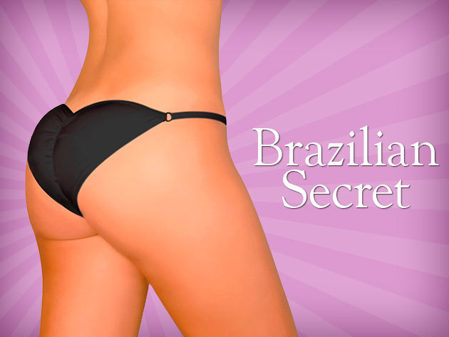 BRAZILIAN SECRET fenékemelő bugyi – a kerek popsi titka!