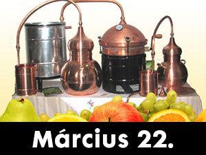 Tanulj meg minőségi pálinkát főzni! Gyorstalpaló, gyakorlati és elméleti oktatás! Március 22.