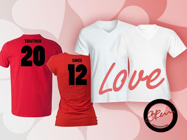 Ötletes, egyedi, romantikus pólók Valentin-napra!