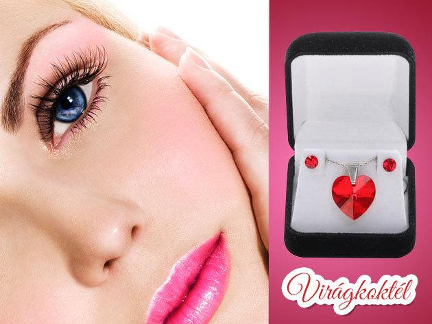 Vallj szerelmet szív alakú Swarovski kristályos ékszerrel!