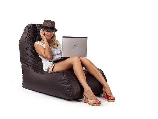 mazee Dressy babzsák fotel (fekete és barna színekben)