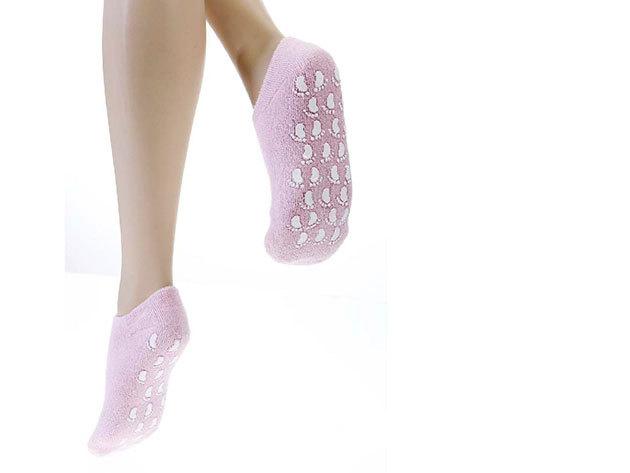 Zselés lábápoló zokni (1 pár, rózsaszín)