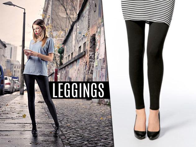 Női pamut leggings fekete színben – trendi és kényelmes ruhadarab