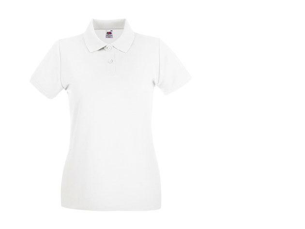 Női karcsúsított piké póló - fehér