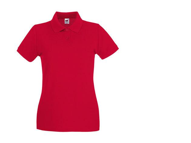 Női karcsúsított piké póló - piros