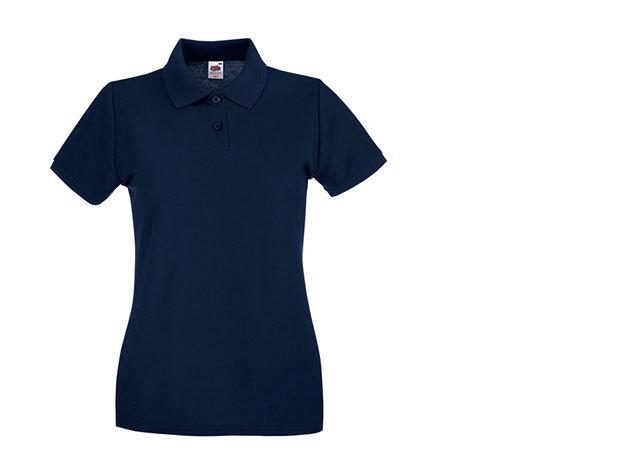 Női karcsúsított piké póló - sötétkék