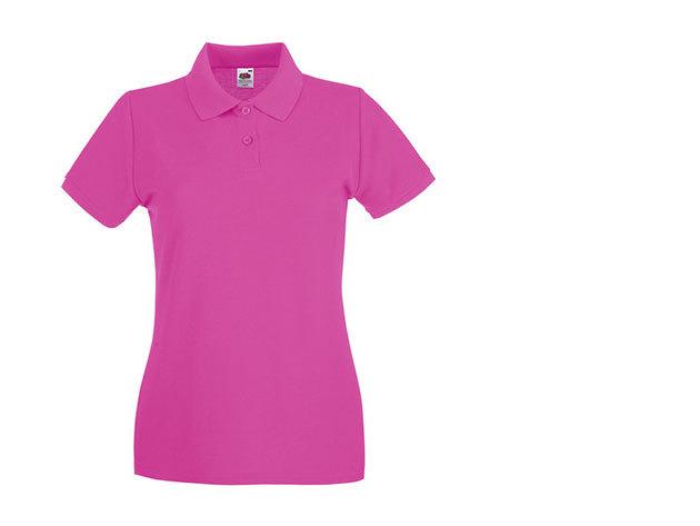 Női karcsúsított piké póló - pink