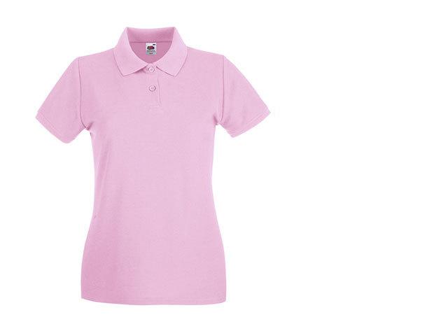 Női karcsúsított piké póló - rózsaszín