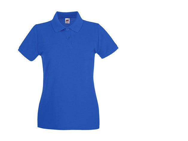 Női karcsúsított piké póló - kék