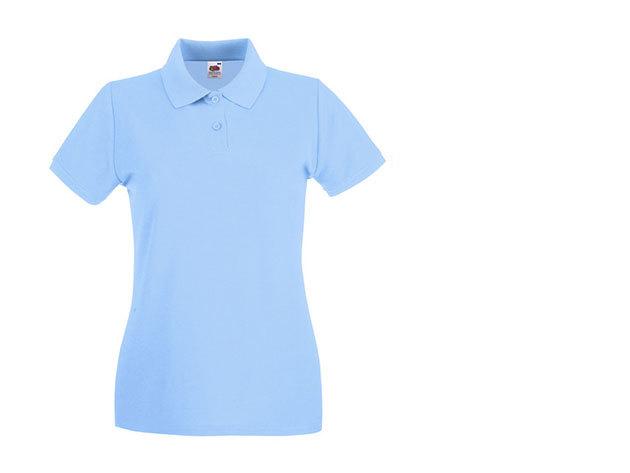 Női karcsúsított piké póló - világoskék