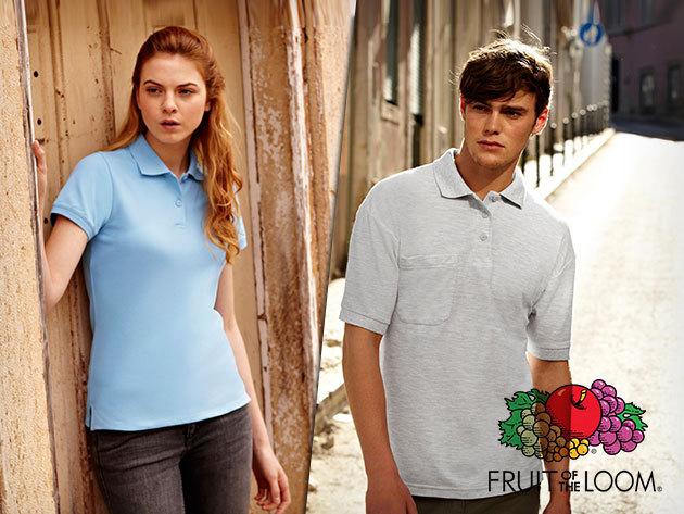 Fruit of the loom férfi és karcsúsított női galléros piké pólók, 100% pamutból!
