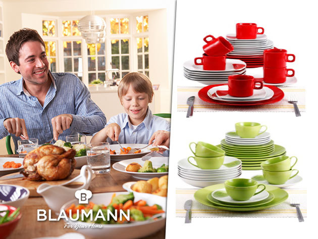 30 részes színes, modern kerámia étkészletek a Blaumanntól